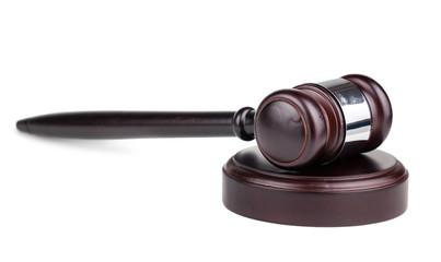 Judges brown wooden gavel