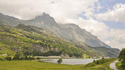 Maloja, Dorf, Silsersee, See, Sils-Maria, Schweizer Alpen