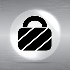 Vector padlock web icon background