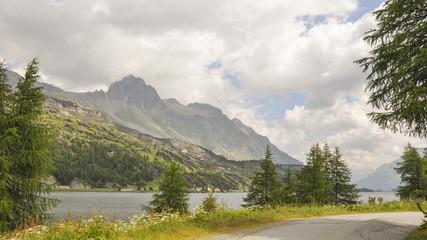 Maloja, Bergdorf, Silsersee, See, Alpen, Sommer, Schweiz