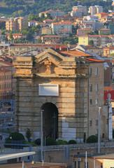 ius's ancient gate (Porta Pia). Ancona, Italy