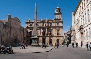 Arles, place de la république.