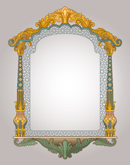 Vector illustration of decorative frame
