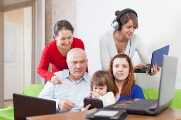 people  uses few  electronic devices in home
