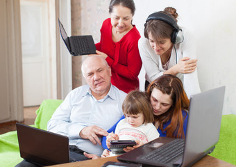 family uses  various electronic devices