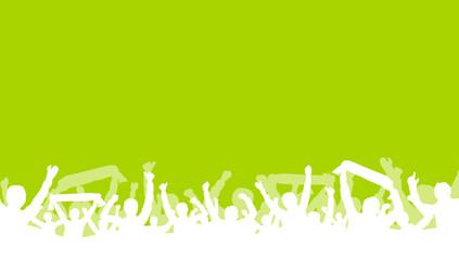 Fans grüner Hintergrund