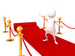 white 3d man on red carpet
