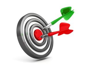 Successful achievement of darts goal
