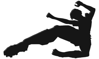 Soccer Football Jump Kick Icon RELIEVE