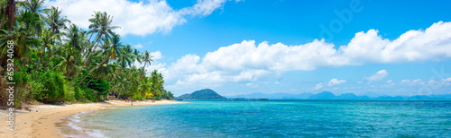 Untouched tropical beach - 65324068