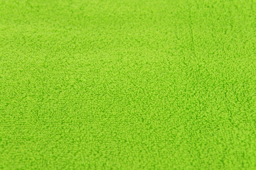 Green towel close-up