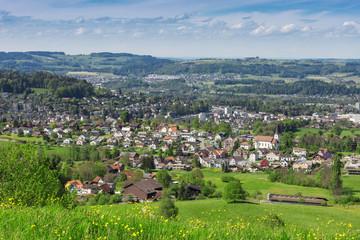 Aussicht Schweizer Dorf