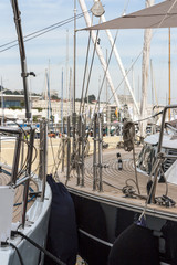 Dettaglio di barca a vela