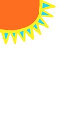 Sonne - Hintergrund, Hochformat