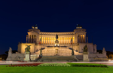 Altare della Patria by night - Rome, Italy