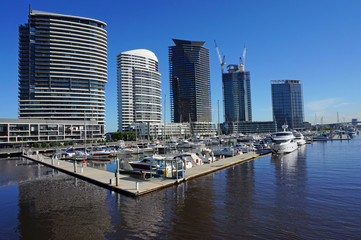 Docklands Harbour in Melbourne