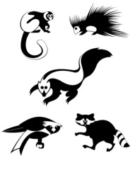 Vector original art animal silhouettes collection for design 8