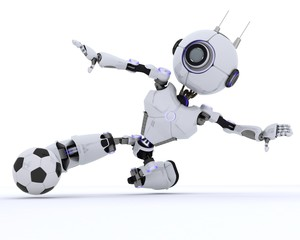 Robot playing football
