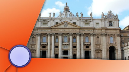 St. Peters Basilica Slideshow, Italy, Background, Loop