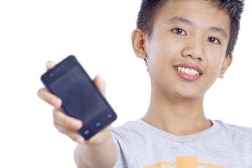 Boy With Cellphone