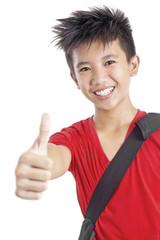 Happy Handsome Student