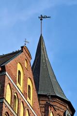 Spires of Koenigsberg Cathedral. Kaliningrad (Koenigsberg