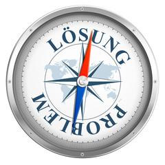 Kompass mit Lösung / Problem