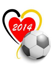 Fußball 2014 Deutschland - Herz