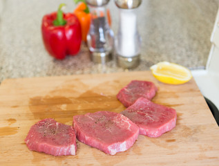 Process of Cooking Meat at Home