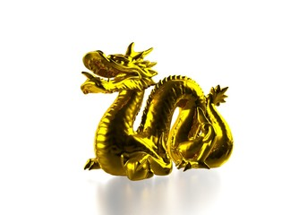 Golden dragon figure
