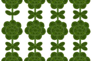 Flower form leaf.( Wall paper concept)