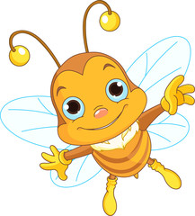 Cute Bee flying