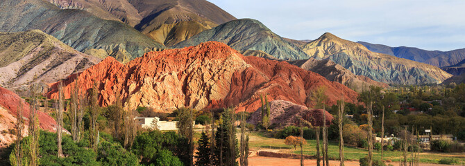 Colored mountain in Purmamarca, Jujuy Argentina