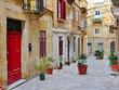 Colorful patio in Valletta, Malta