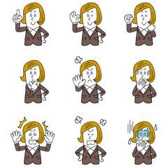 オフィスで働く女性の9種類のポーズと仕草