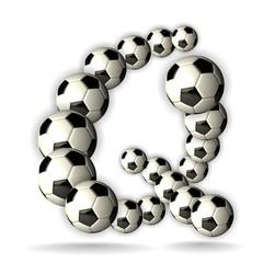 Soccer Alphabet - 3D - Letter Q