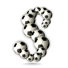 Soccer Alphabet - 3D - Letter S