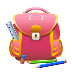 school bag and pencils