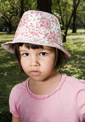 Portrait of emotional girl