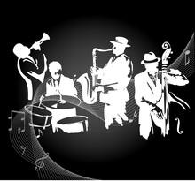 Concierto de jazz de fondo negro