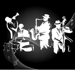 Jazz concert black background