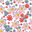 seamless texture of watercolor floral