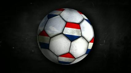 Netherlands Ball Rotation Looping Alpha Matte