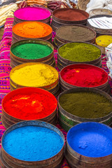 colorful dye selection Pisac Cuzco Peru