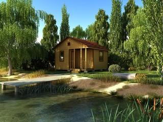 Дом возле реки