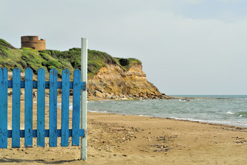 Tor Caldara beach near Rome in Italy