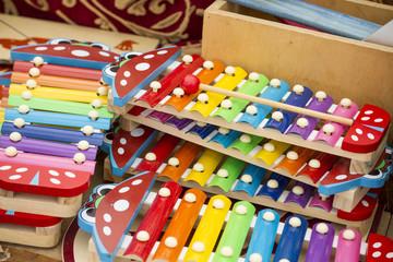 Xylophones made of wood