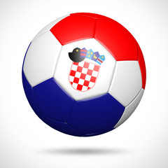 3D soccer ball with Croatia flag element and original colors
