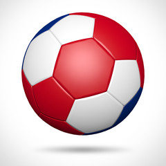 3D soccer ball with Costa Rica flag element and original colors