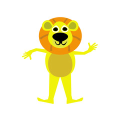 illustration of Lion cartoon.Vector